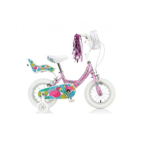"12"" ProBike Flamingo Girls Purple Bike - Free Delivery"