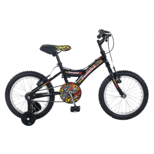 "18"" ProBike  Speedster Boys Black Bike - Free Delivery"