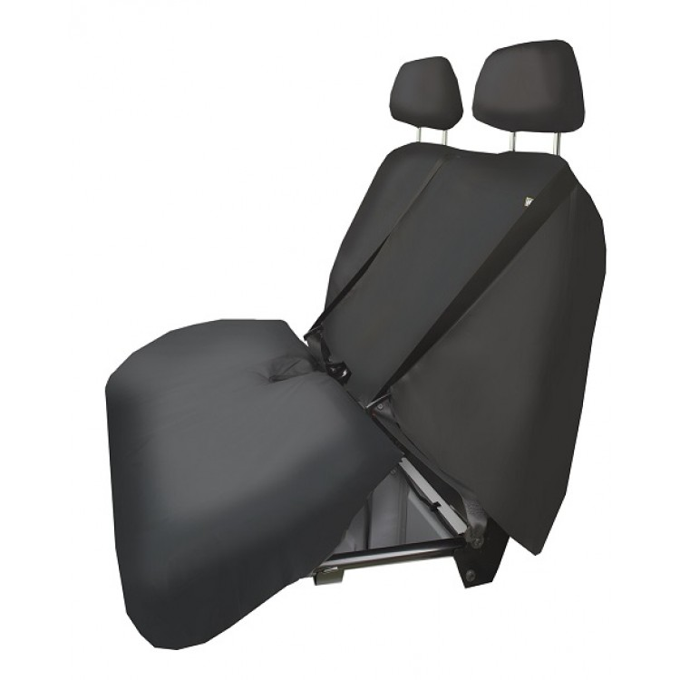 BLACK HDD VW Crafter 2014/> Driver /& Double Passenger Protective Seat Covers