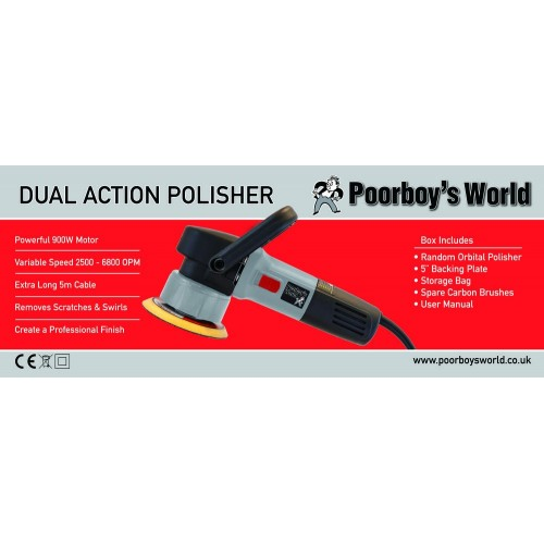 Poorboys World 240v Car Polisher Dual Action - Complete With Storage Bag